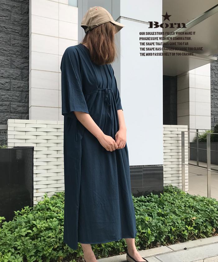 ボーン 【Born】Dolman-sleeve Maxi One-piece
