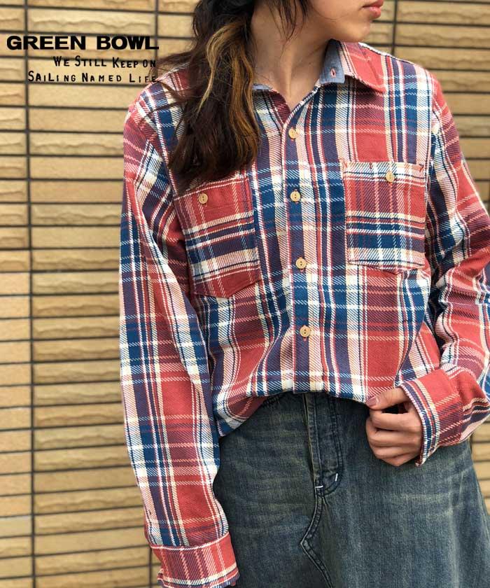 グリーンボウル【GREEN BOWL】Check Pattern Work Shirts