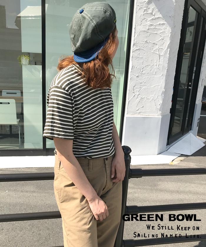 グリーンボウル 【GREEN BOWL】 Border Pattern T-Shirts