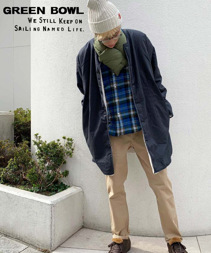 グリーンボウル 【GREEN BOWL】 No-collar Liner Jacket