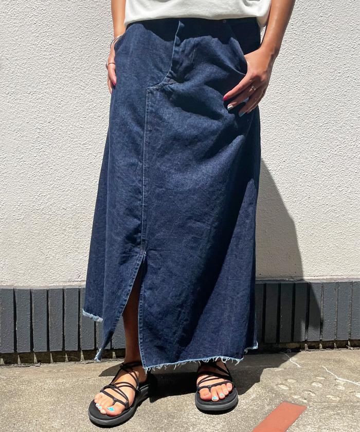 【日本製】オールドベティーズ 【OLD BETTY'S】 Denim Painter Remake Skirt