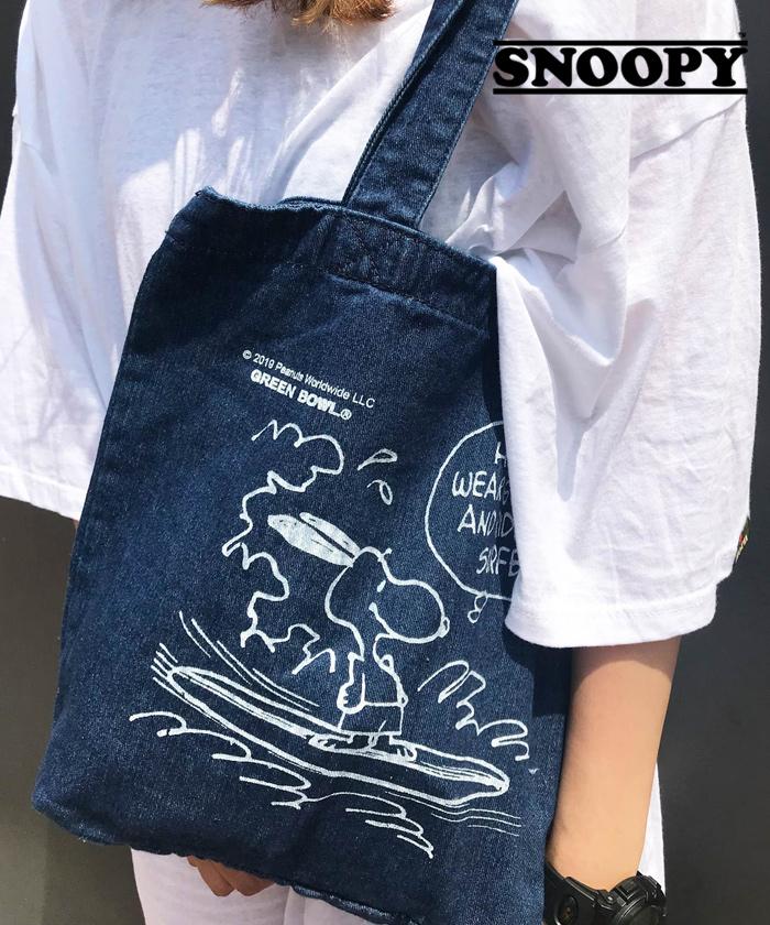 スヌーピー 【SNOOPY】Denim Tote Bag