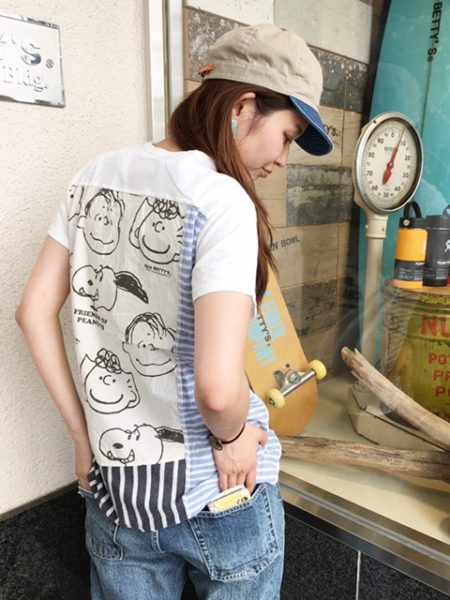 SNOOPY Remake T-shirtsがオススメです*