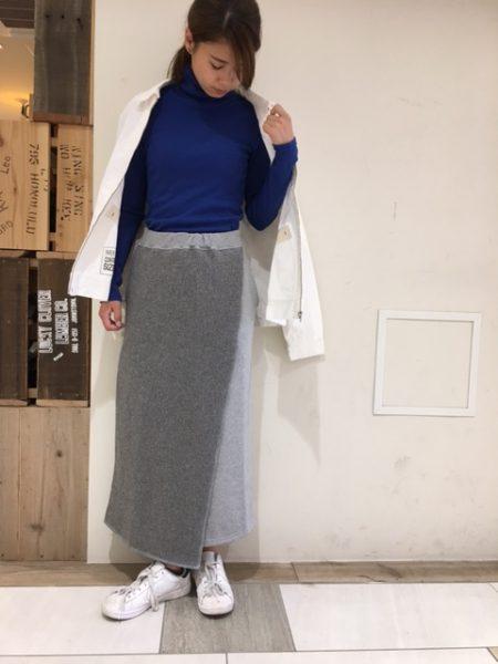 ウールニットスカート*