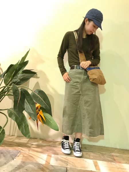 Corduroy 5Pocket Long Skirt