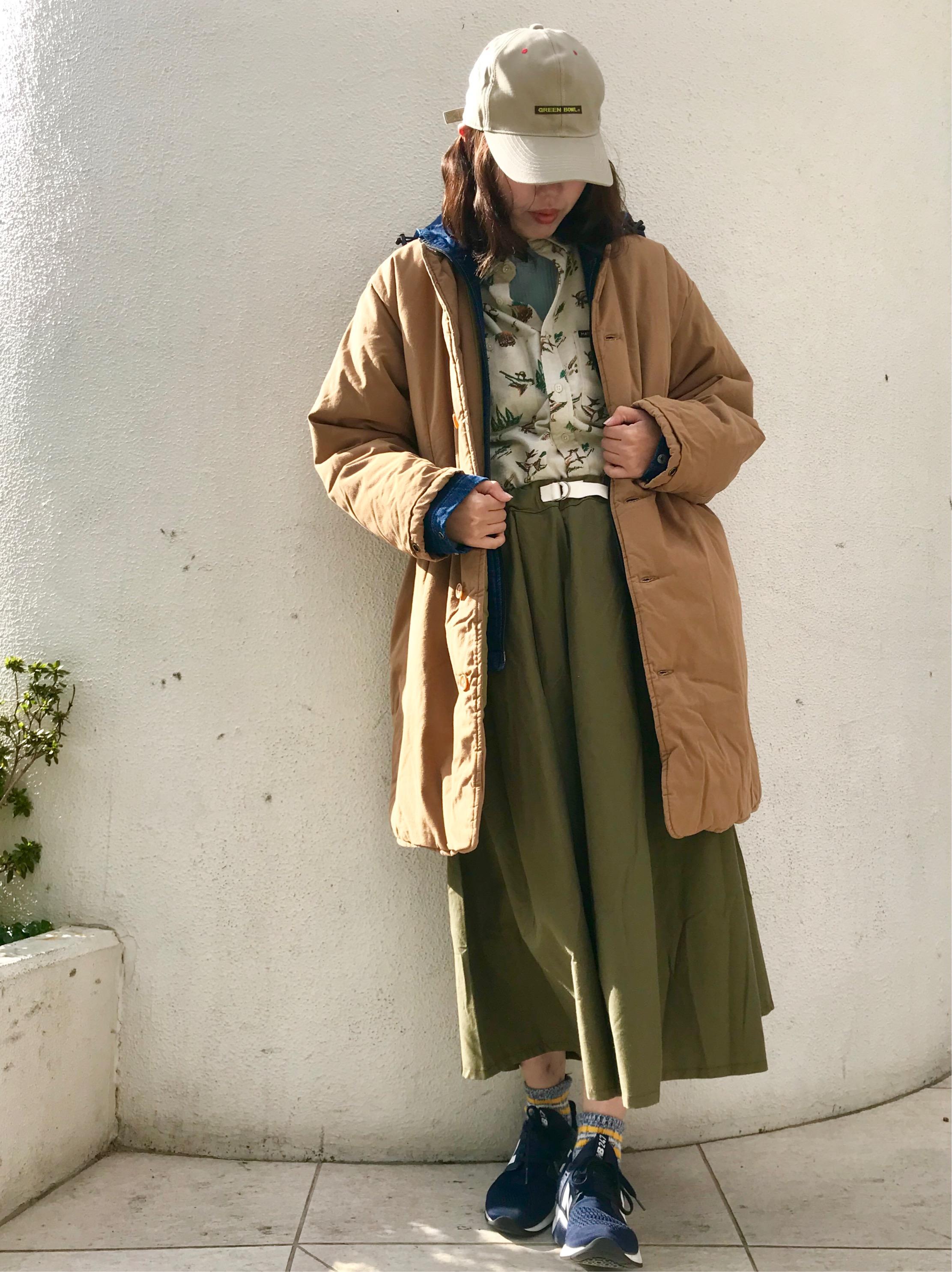 ボリュームロングスカートを使ったコーディネート☆