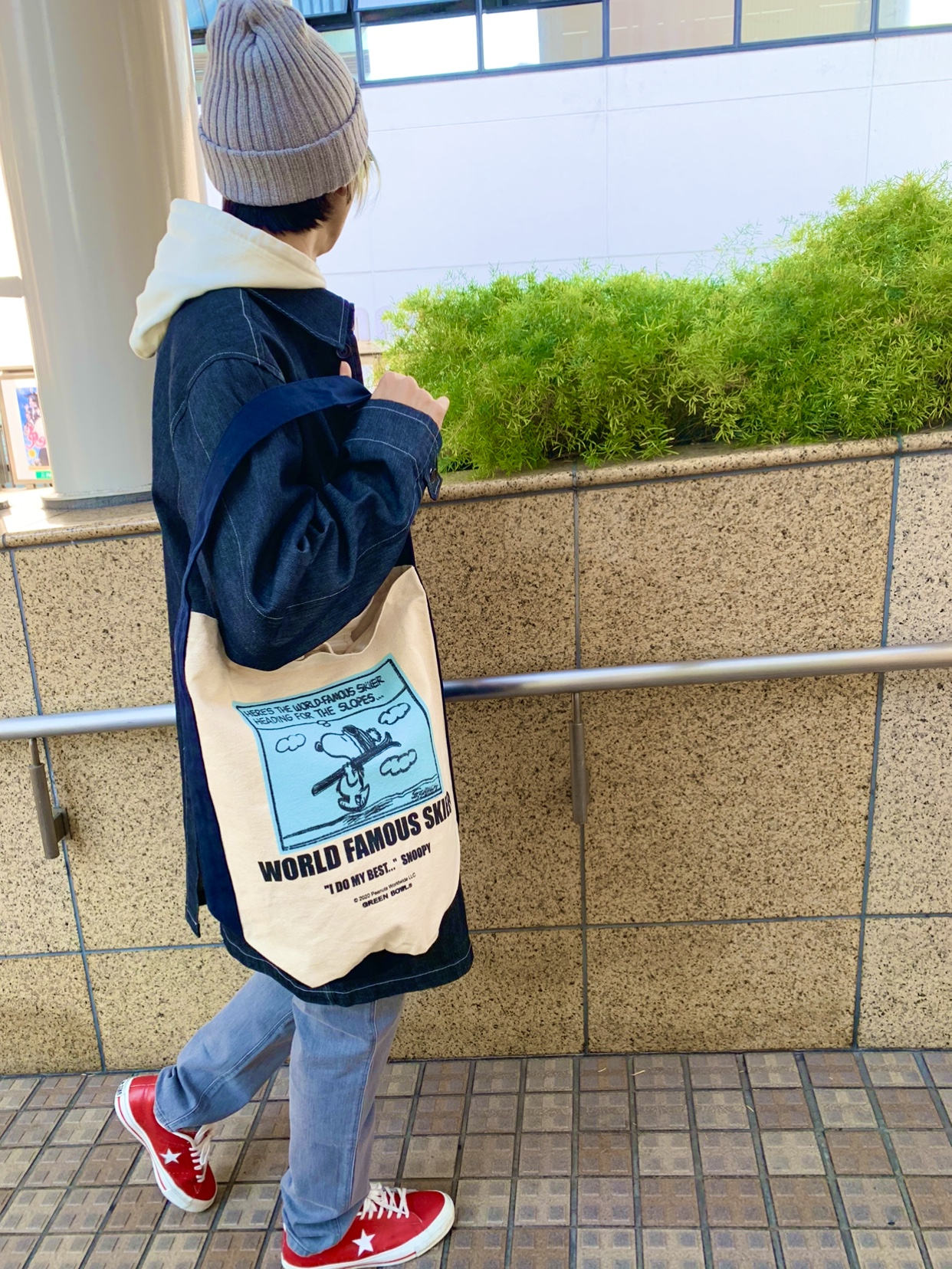 スヌーピーバッグが可愛いですよ〜